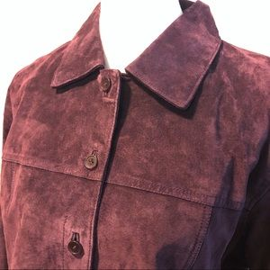 A.M. I. Jackets & Coats - Suede Leather Shirt Jacket XL
